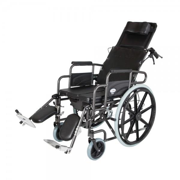 Αμαξίδιο Reclining με πλάτη ανακλινόμενη, ανυψούμενα υποπόδια και δοχείο – 0806062