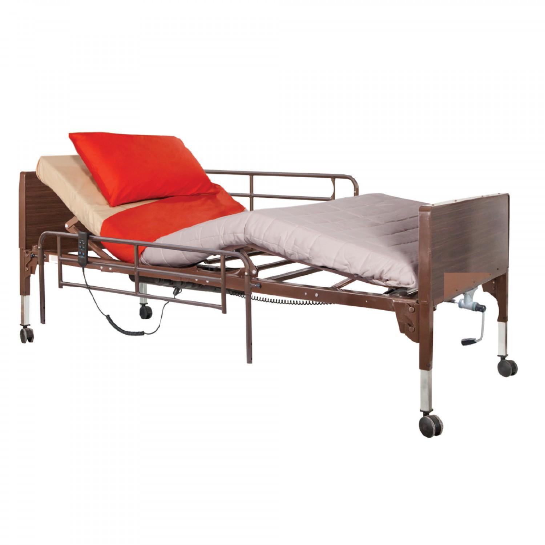 Νοσοκομειακό κρεβάτι – κλίνη ημι-ηλεκτρικό πολύσπαστο με χειροκίνητη ανύψωση – 0808471